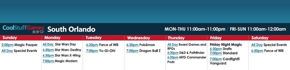 South Orlando Schedule