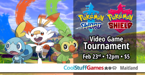Pokemon Sword & Shield Video Game Tournament. @ Cool Stuff Games - Maitland