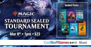 Magic: the Gathering Standard Sealed @ Cool Stuff Games - Miami