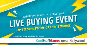 Cool Stuff Games Live Buying Event @ Cool Stuff Games - Hollywood